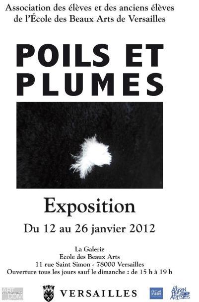 affiche expo poils et plumes eba versailles