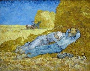 """Van Gogh - """"la Méridienne"""" (d'après """"La Sieste"""" de Millet) - 1889 - Musée d'Orsay - Paris"""