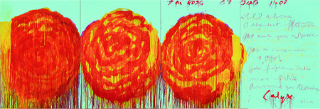 "Cy Twombly ""The Rose II"", 2008Cy Twombly ""The Rose II"", acrylique sur contreplaqué, 2008"