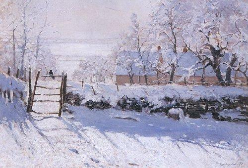 Monet - La pie, effet de neige - 1869