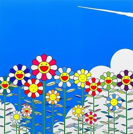 """Takashi Murakami, """"Flowers"""", lithographie, 2011"""