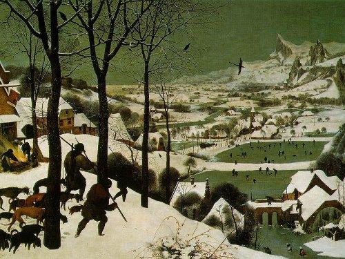 Pieter Bruegel L'Ancien - Chasseurs dans la neige - 1565