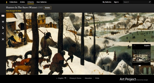 Bruegel the elder - Chasseurs dans la neige - Hunters in the Snow (Winter) 1565