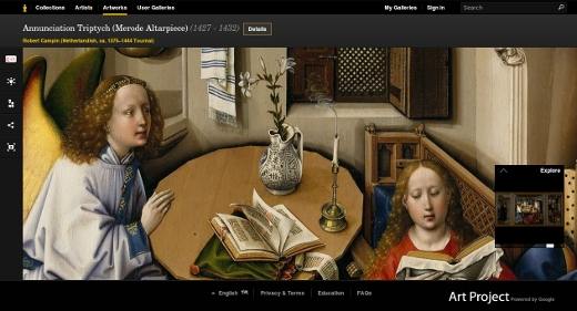 Robert Campin - Annonciation - Annunciation Triptych (1427 - 1432)