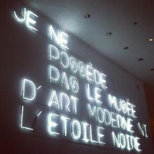 mam - musee d'art moderne paris - neon - je ne possede pas le musee d'art moderne