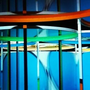 monumenta 2012, grand palais, paris, daniel buren, nuit des musées, detail bleu