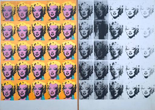 Marilyn Diptych, Andy Warhol, 1962 (Tate Gallery)